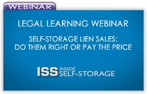 Picture of Legal Learning Webinar - Self-Storage Lien Sales: Do Them Right or Pay the Price