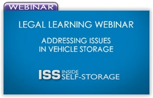 Picture of Legal Learning Webinar - Addressing Issues in Vehicle Storage