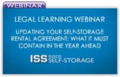 Picture of Legal Learning Webinar - Updating Your Self-Storage Rental Agreement: What It Must Contain in the Year Ahead
