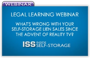 Picture of Legal Learning Webinar - What's Wrong With Your Self-Storage Lien Sales Since the Advent of Reality TV?