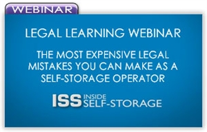Picture of Legal Learning Webinar - The Most Expensive Legal Mistakes You Can Make as a Self-Storage Operator