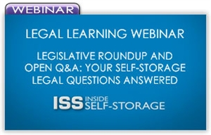 Picture of Legal Learning Webinar - Legislative Roundup and Open Q&A: Your Self-Storage Legal Questions Answered