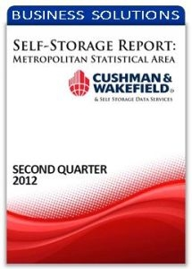 Picture of Self-Storage Metropolitan Statistical Area Report - Second Quarter 2012