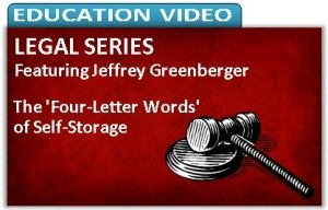 Picture of The 'Four-Letter Words' of Self-Storage: Words and Phrases to Avoid in the Operation of Your Business