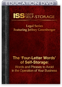 Picture of DVD - The 'Four-Letter Words' of Self-Storage: Words and Phrases to Avoid in the Operation of Your Business