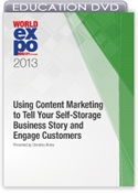 Picture of DVD - Using Content Marketing to Tell Your Self-Storage Business Story and Engage Customers