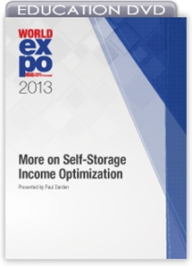 Picture of DVD - More on Self-Storage Income Optimization
