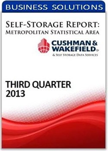 Picture of Self-Storage Metropolitan Statistical Area Report - Third Quarter 2013