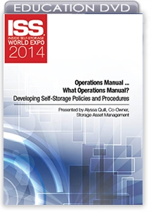 Picture of DVD - Operations Manual ... What Operations Manual? Developing Self-Storage Policies and Procedures