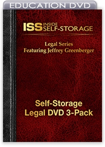 Picture of Self-Storage Legal DVD 3-Pack Featuring Jeffrey Greenberger