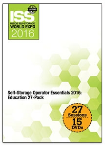 Picture of DVD - Self-Storage Operator Essentials 2016: Education 27-Pack
