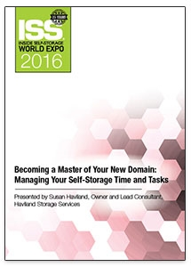 Picture of DVD - Becoming a Master of Your New Domain: Managing Your Self-Storage Time and Tasks