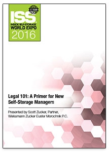 Picture of DVD - Legal 101: A Primer for New Self-Storage Managers