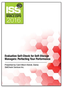 Picture of DVD - Evaluation Self-Check for Self-Storage Managers: Perfecting Your Performance