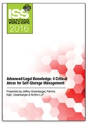 Picture of DVD - Advanced Legal Knowledge: 4 Critical Areas for Self-Storage Management