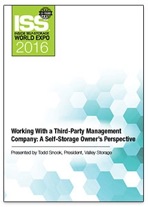 Picture of DVD - Working With a Third-Party Management Company: A Self-Storage Owner's Perspective