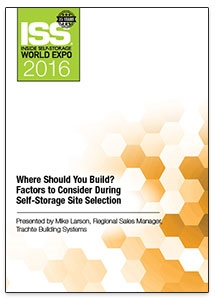 Picture of DVD - Where Should You Build? Factors to Consider During Self-Storage Site Selection
