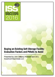 Picture of DVD - Buying an Existing Self-Storage Facility: Evaluation Factors and Pitfalls to Avoid