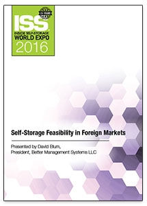 Picture of DVD - Self-Storage Feasibility in Foreign Markets
