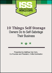 Picture of DVD - 10 Things Self-Storage Owners Do to Self-Sabotage Their Business