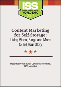 Picture of DVD - Content Marketing for Self-Storage: Using Video, Blogs and More to Tell Your Story