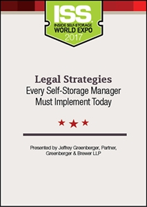 Picture of DVD - Legal Strategies Every Self-Storage Manager Must Implement Today