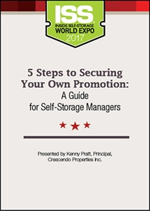 Picture of DVD - 5 Steps to Securing Your Own Promotion: A Guide for Self-Storage Managers