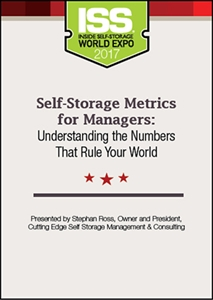 Picture of DVD - Self-Storage Metrics for Managers: Understanding the Numbers That Rule Your World