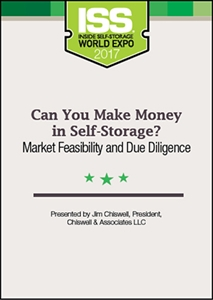 Picture of DVD - Can You Make Money in Self-Storage? Market Feasibility and Due Diligence