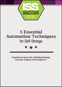 Picture of DVD - 5 Essential Automation Techniques for Self-Storage