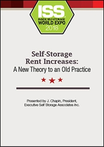 Picture of DVD - Self-Storage Rent Increases: A New Theory to an Old Practice
