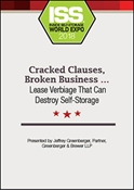 Picture of DVD - Cracked Clauses, Broken Business … Lease Verbiage That Can Destroy Self-Storage