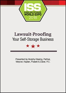 Picture of DVD - Lawsuit-Proofing Your Self-Storage Business