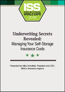 Picture of DVD - Underwriting Secrets Revealed: Managing Your Self-Storage Insurance Costs