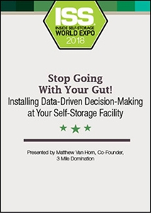 Picture of DVD - Stop Going With Your Gut! Installing Data-Driven Decision-Making at Your Self-Storage Facility