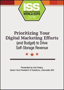 Picture of DVD - Prioritizing Your Digital Marketing Efforts (and Budget) to Drive Self-Storage Revenue
