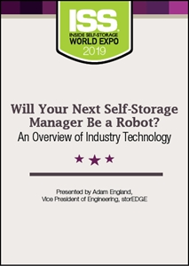 Picture of DVD - Will Your Next Self-Storage Manager Be a Robot? An Overview of Industry Technology