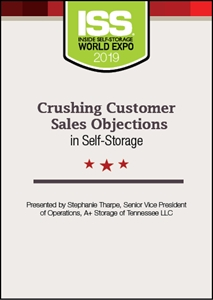 Picture of DVD - Crushing Customer Sales Objections in Self-Storage