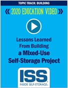 Picture of DVD - Lessons Learned From Developing a Mixed-Use Self-Storage Project