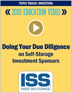 Picture of DVD - Doing Your Due Diligence on Self-Storage Investment Sponsors