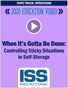 Picture of DVD Pre-Order - When It's Gotta Be Done: Controlling Sticky Situations in Self-Storage
