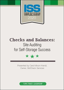 Picture of DVD - Checks and Balances: Site Auditing for Self-Storage Success
