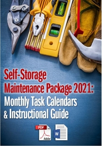 Picture of Self-Storage Maintenance Package 2021: Monthly Task Calendars and Guide