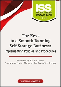 Picture of DVD Pre-Order - The Keys to a Smooth-Running Self-Storage Business: Implementing Policies and Procedures