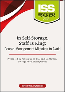 Picture of DVD Pre-Order - In Self-Storage, Staff Is King: People-Management Mistakes to Avoid