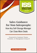 Picture of DVD Pre-Order - Sales Guidance for Non-Salespeople: How Any Self-Storage Manager Can Close More Deals