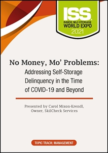 Picture of DVD Pre-Order - No Money, Mo' Problems: Addressing Self-Storage Delinquency in the Time of COVID-19 and Beyond