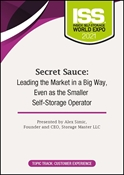 Picture of DVD - Secret Sauce: Leading the Market in a Big Way, Even as the Smaller Self-Storage Operator