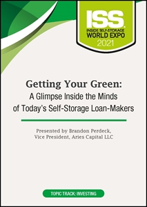 Picture of DVD - Getting Your Green: A Glimpse Inside the Minds of Today's Self-Storage Loan-Makers